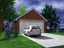 GARAGE TYPE :: Double Garage - Gable Fronted (GP/014)