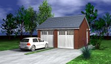 GARAGE TYPE :: Double Garage - Eaves Fronted (GP/012)