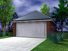 GARAGE TYPE :: Double Garage - Hipped Roof (GP/016)