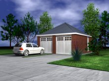 GARAGE TYPE :: Double Garage - Hipped Roof (GP/015)