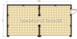 GARAGE TYPE :: Quadruple Garage - Hipped Roof (GP/018)