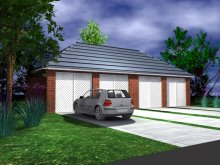 GARAGE TYPE :: Quadruple Garage - Hipped Roof (GP/019)